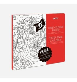 OMY Omy coloring poster 100 x 70 Pirates
