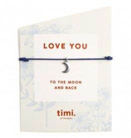 Timi Timi stretch bracelet silver - moon blue