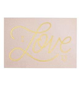 Timi Timi postcard 'I love you' pink