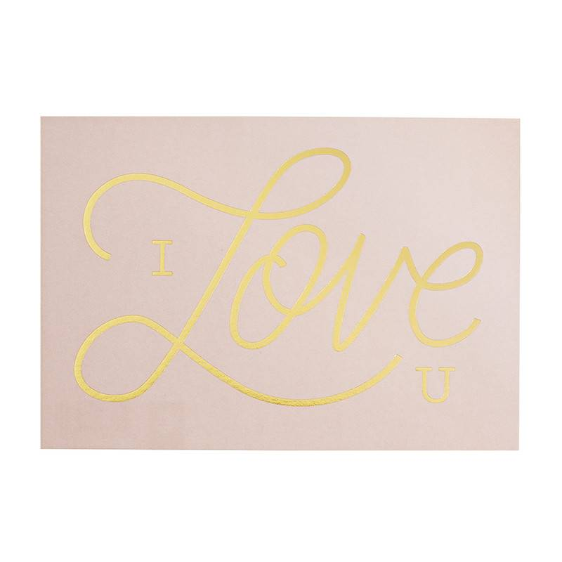 Timi postcard 'I love you' pink
