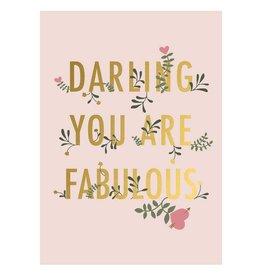 Timi Timi postcard  'darling you are fabulous'