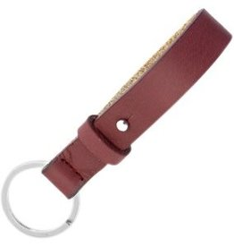 With love With Love keychain leather - burgundy