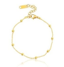 With love With love bracelet ball chain gold