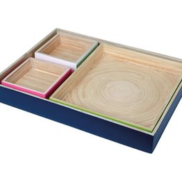Orval Créations Set 4 trays bamboo