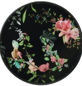 Orval Créations Serving and decoration tray 40 cm flora fauna black