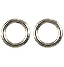 Treasure Silver stud earrings circle 5 mm gold plated