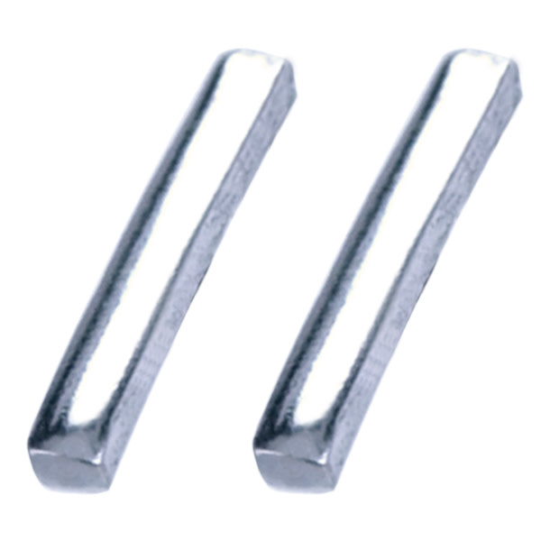 Treasure Silver earrings bar 1.5 x 12 mm