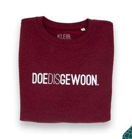 Kleir Kleir burgundy unisex sweater - DOEDISGEWOON