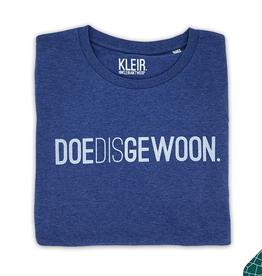 Kleir Kleir blue melange t-shirt - DOEDISGEWOON