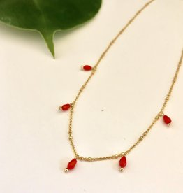 ONE80 ONE80 short necklace venus pearls coral