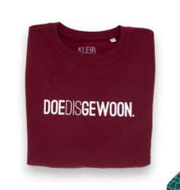 Kleir Kleir kids sweater burgundy DOEDISGEWOON