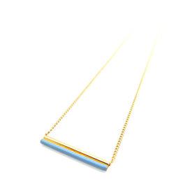 Nadja Carlotti Gold plated necklace étincelle blue