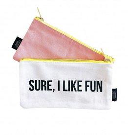 Studio Stationary Sure, I like fun, canvas bag 21 x 10 cm