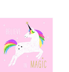 Paperproducts Design Napkin 25x25 cm pink unicorn' 20 pcs
