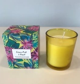 Candle lemon zest & basil 8 x 6 cm