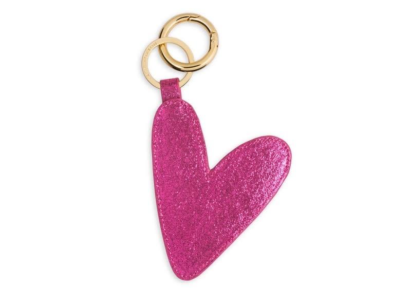 Katie Loxton Katie Loxton heart keyring - pink 9.5 x 8 cm