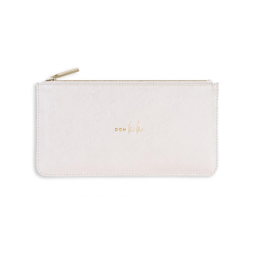Katie Loxton Katie Loxton Serena slim pouch - ooh la la - white 11x22 cm