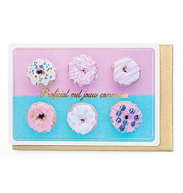 Enfant Terrible Enfant Terrible card  + envelope 'communie donuts'