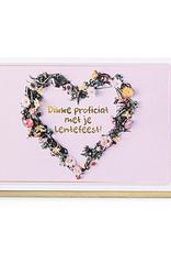 Enfant Terrible Enfant Terrible card  + envelope 'lentefeest bloemenkrans'