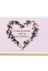 Enfant Terrible Enfant Terrible card  + enveloppe 'lentefeest bloemenkrans'
