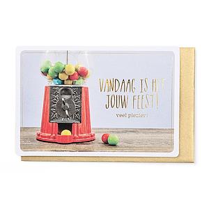 Enfant Terrible Enfant Terrible card  + envelope 'vandaag is het jouw feest'