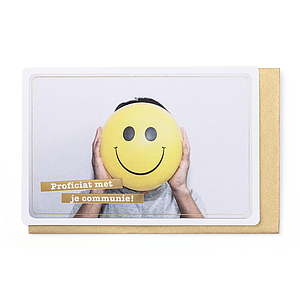 Enfant Terrible Enfant Terrible card  + envelope 'communie smiley'