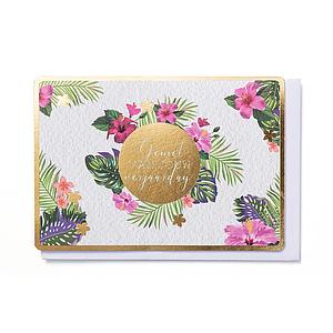 Enfant Terrible Enfant Terrible card + enveloppe 'flower bom 'geniet van jouw verjaardag'