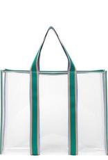 Becksondergaard Matria graphic tote bag - clear green 47 x 36 cm