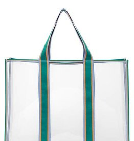 Becksondergaard Matria graphic tote bag - clear green 47 x 36 cm