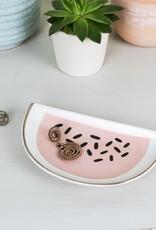 Rex London Porcelain jewellery tray - watermelon