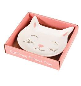 Rex London Porcelain jewellery tray - cat face