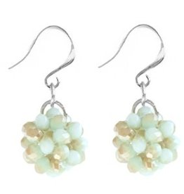 With love With love set earrings mint green gold