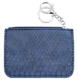 With love Trendy wallet snake Dark Blue 12 x 9 cm