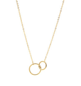 With love Necklace circles gold