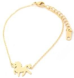 With love Bracelet unicorn gold