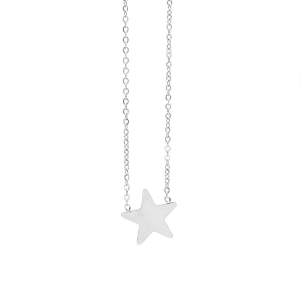 With love Necklace star silver