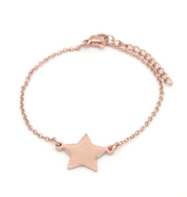 With love Bracelet star rose gold