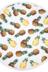 With love Roundie beach towel 150 cm pineapples