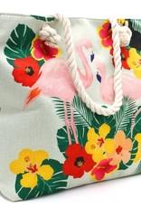 With love Beach bag flamingos
