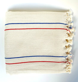 Bon Bini Bon Bini towel Bakuna red / blue