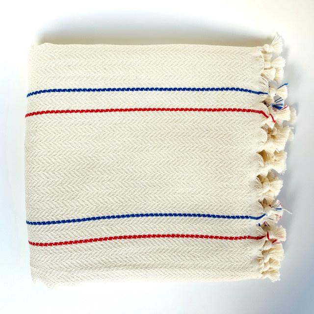 Bon Bini Bon Bini towel Bakuna red / blue