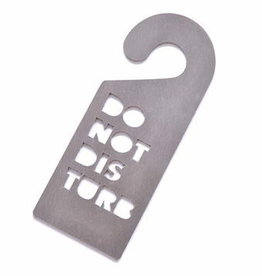 Double Stitched Doorhanger polished concrete 'do not disturb'