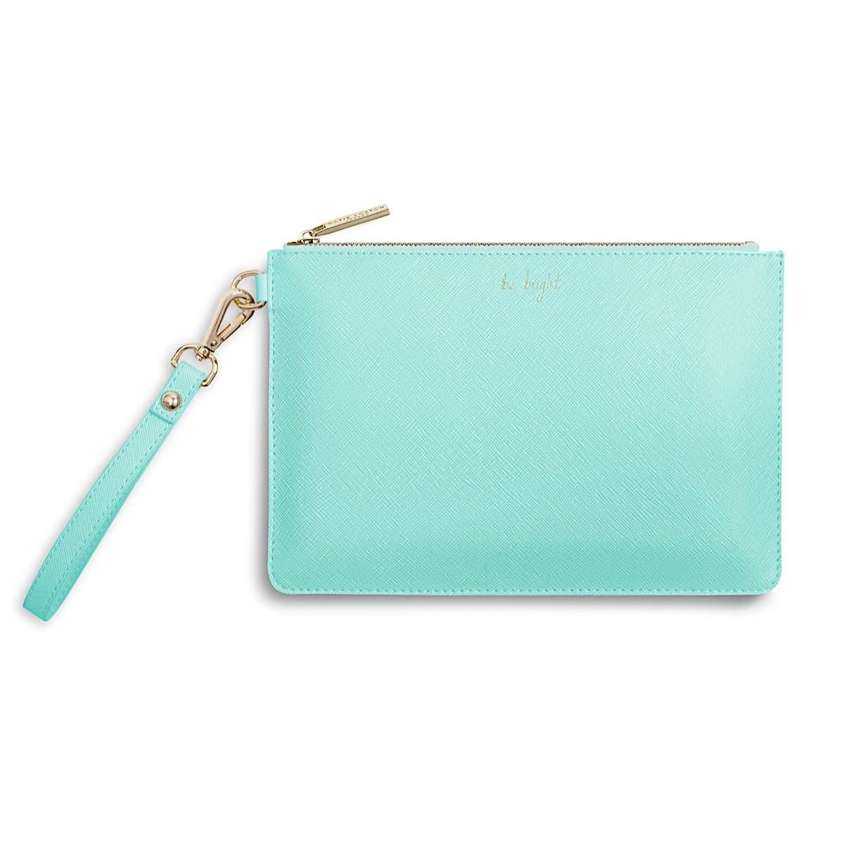 Katie Loxton Katie Loxton secret message pouch be happy be bright - mint 16x24 cm