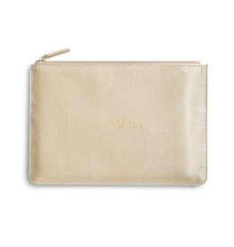 Katie Loxton Katie Loxton pouch - gold shimmer - wonderful mum 24x16 cm