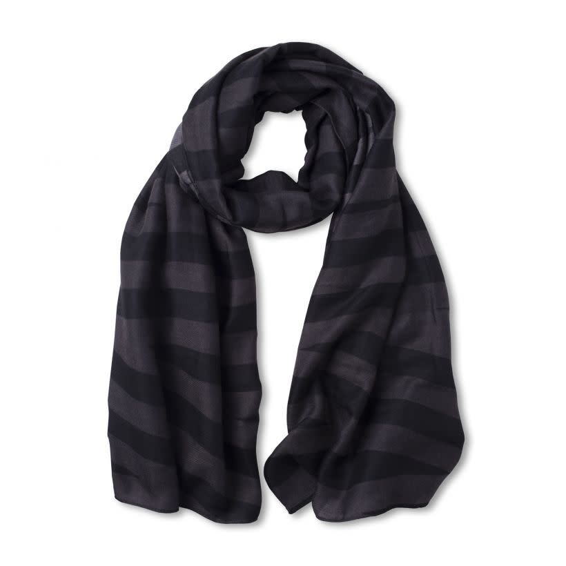 Katie Loxton Classic scarf - grey charcoal strips