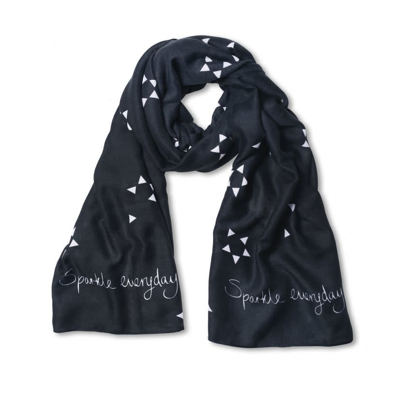 Katie Loxton Sentiment scarf - sparkle everyday - grey