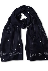 Katie Loxton Sentiment scarf - time to shine - navy