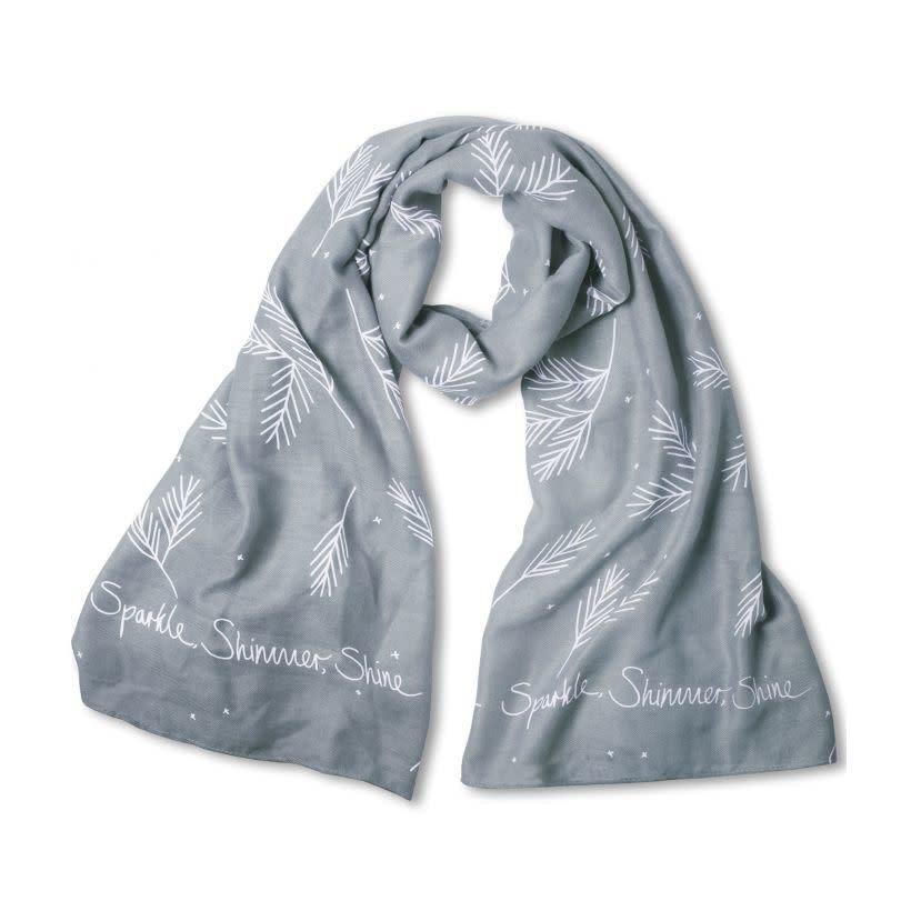 Katie Loxton Sentiment scarf - sparkle simmer shine - light blue