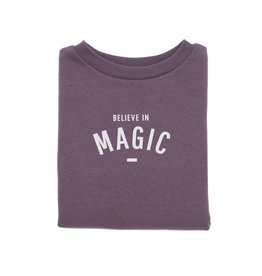 Bob & Blossom BELIEVE IN MAGIC sweater - plum - 1Y