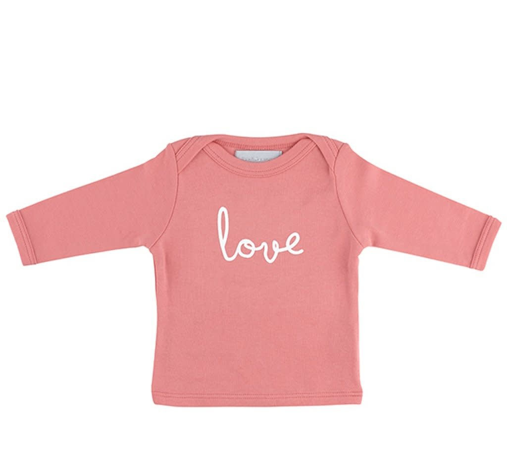 Bob & Blossom Flamingo pink baby t-shirt LOVE 0-6 M